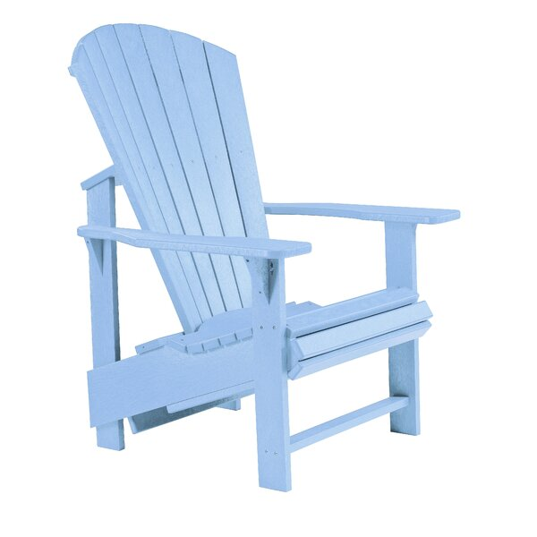 Generations Upright Plastic/Resin Adirondack Chair by CR Plastic Products CR Plastic Products