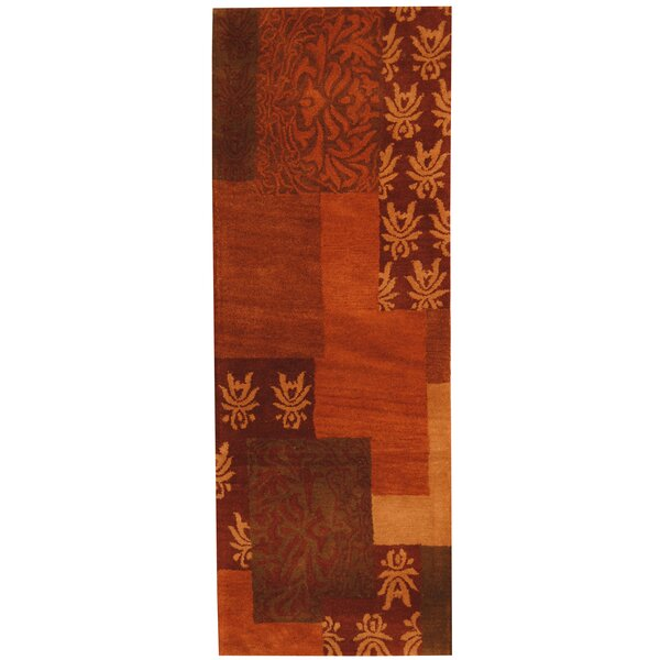 Hand-tufted Rust/Red Area Rug by Herat Oriental