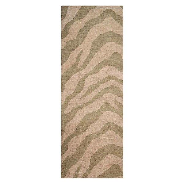 Hetzel Hand-Tufted Wool/Cotton Beige/Brown Area Rug by Bloomsbury Market