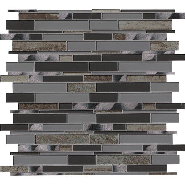 Metallica Interlocking Glass Mosaic Tile in Gray by MSI