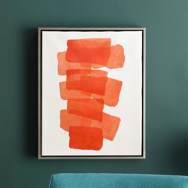 Framed Painting Print on Canvas in Orange by Langley Street