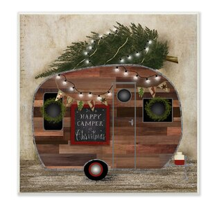 'Happy Camper at Christmas' Graphic Art Print by Laurel Foundry Modern Farmhouse