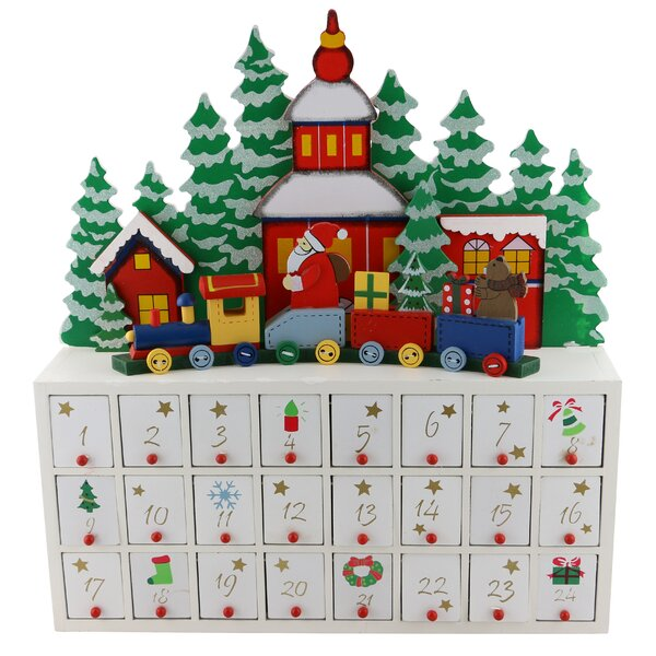 Train Advent Wooden Calendar Countdown by The Holiday Aisle