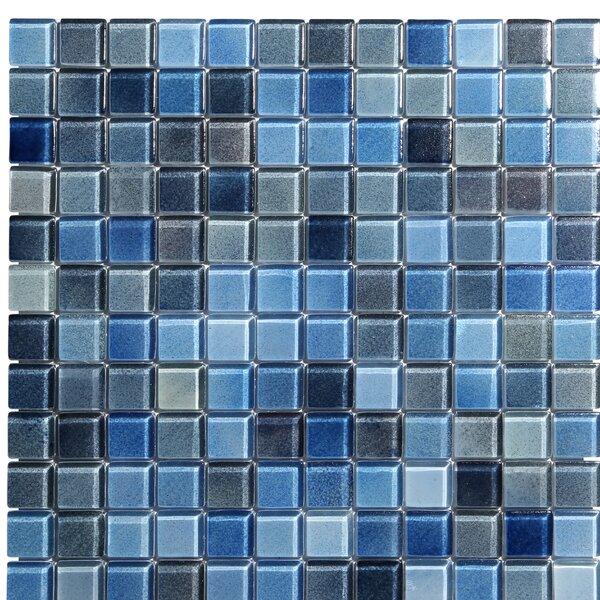 Hi-Fi 1 x 1 Glass Mosaic Tile in Blue by Kellani