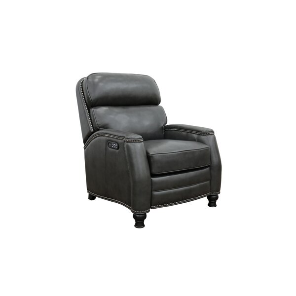 Wilberforce Leather Power Recliner By Canora Grey