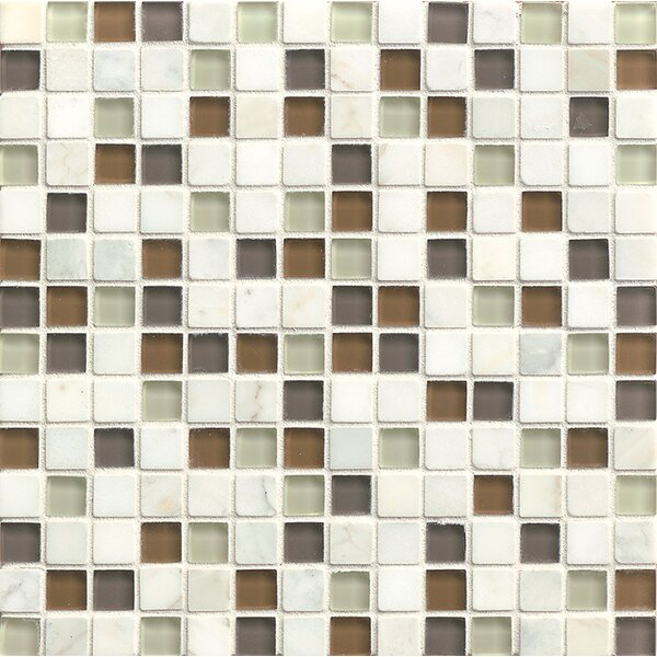 Concord 0.75 x 0.75 Stone and Glass MosaicTile in Peace by Grayson Martin