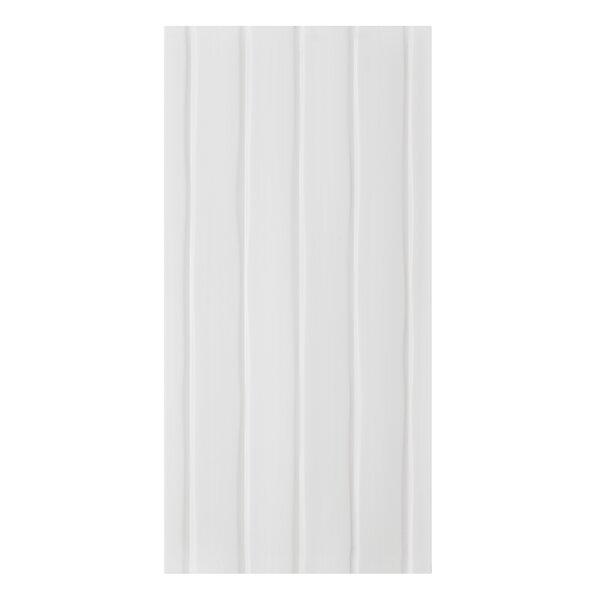 Conran Flow 10 x 20 Ceramic Wall Tile in Satin White by Mulia Tile