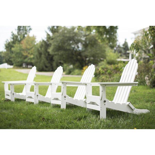Minatare Plastic Folding Adirondack Chair (Set of 4) by Three Posts