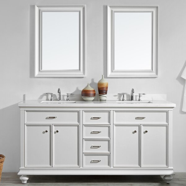 Weisner 72 Bathroom Vanity Set with Mirror by Alcott Hill