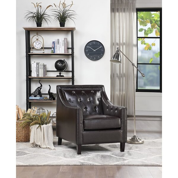 Accent Chair In , Brown By Winston Porter