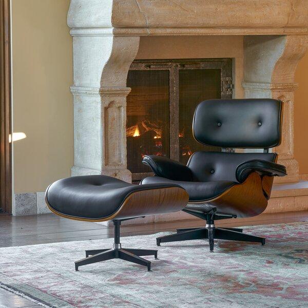 Omari Swivel Lounge Chair and Ottoman by Corrigan Studio
