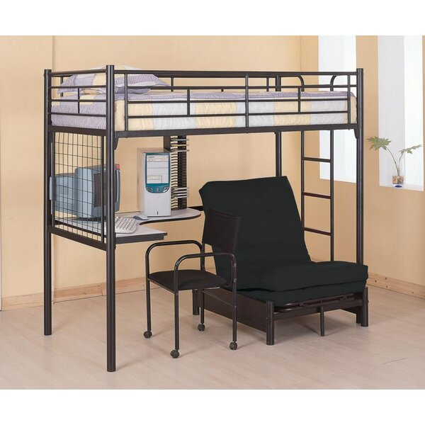 Schuller Workstation Twin Loft Bed by Harriet Bee