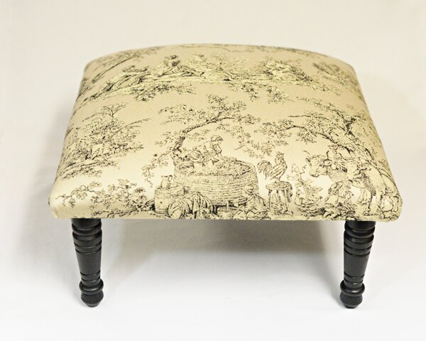 Maxine Toile Pastoral Accent Stool by Corona Decor