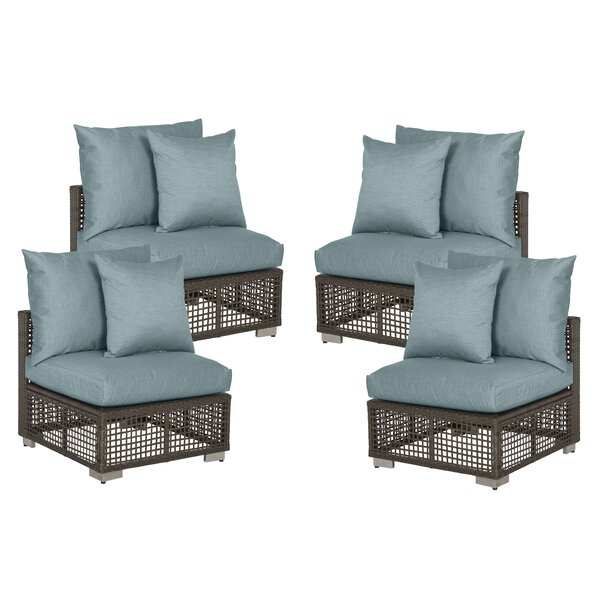 Ellie Patio Chair with Cushions (Set of 4) by Ivy Bronx