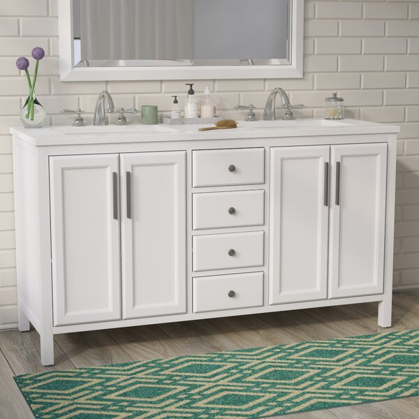 Carpentier 59 Double Bathroom Vanity Set by Brayden Studio