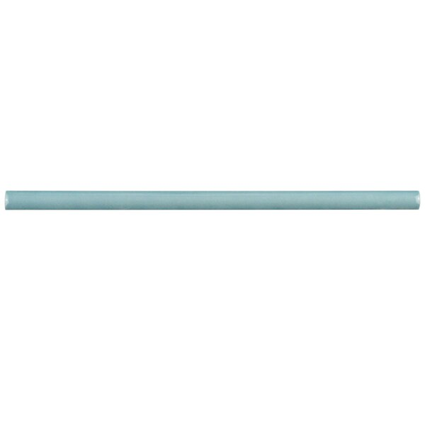 Tivoli 12 x 0.5 Ceramic Bullnose Tile Trim in Aqua (Set of 5) by EliteTile