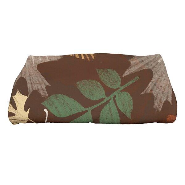 Brookfield Watercolor Leaves Bath Towel by Loon Peak