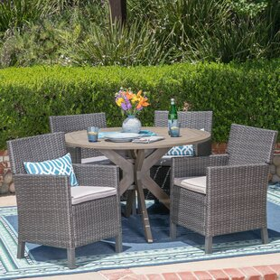 Lubuklinggau 5 Piece Dining Set with Cushions ByWrought Studio