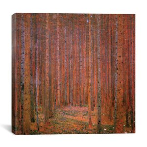 'Fir Forest I' by Gustav Klimt Graphic Art Print by iCanvas