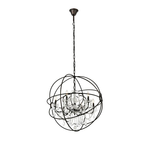 Svante 6 - Light Candle Style Globe Chandelier with Crystal Accents by Willa Arlo Interiors Willa Arlo Interiors