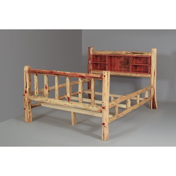 Brockway Rustic Red Cedar Log Standard Bed by Loon Peak