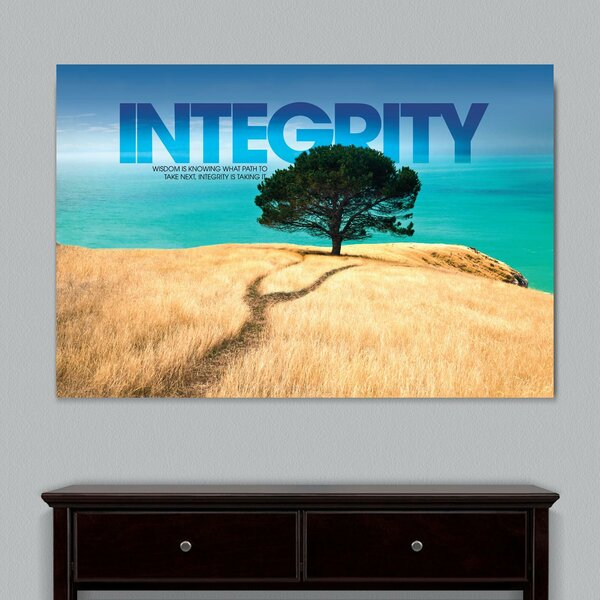 Infinity Edge Integrity Tree Motivational Graphic Art on Wrapped Canvas by Successories