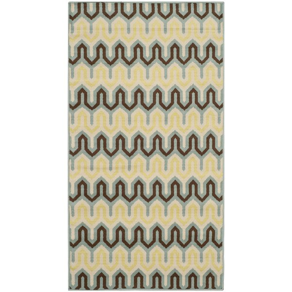 Kelston Light Ivory Outdoor Area Rug by Brayden Studio