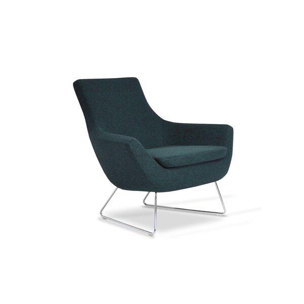 Engles Wool Lounge Chair by Orren Ellis