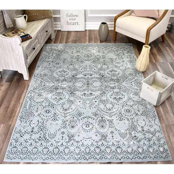 Helena Artistic Light Blue/Dark Blue Area Rug by CosmoLiving
