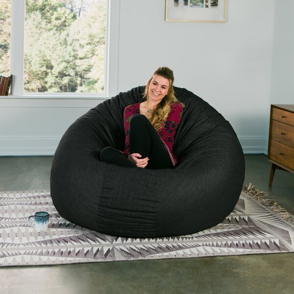 Denim Cocoon 6' Bean Bag Chair By Jaxx