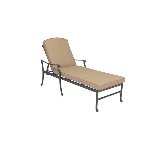 Cardin Reclining Chaise Lounge with Cushio