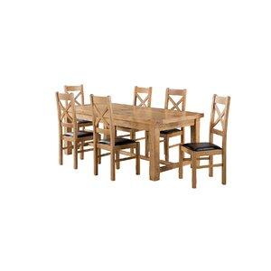 Essgruppe Canterbury mit ausziehbarem Tisch und 6 Stühlen von Brick & Barrow