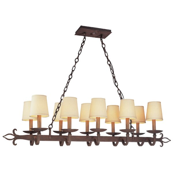 Coleg 10-Light Pendant by Fleur De Lis Living