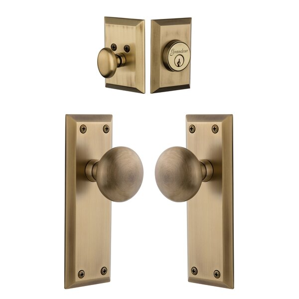 Fifth Avenue Keyed Door Knob by Grandeur