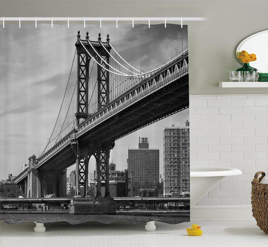 Benton Bridge In New York City Shower Curtain