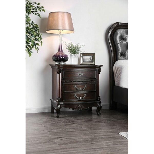 Pauletta Solid Wood 3 Drawer Nightstand by Astoria Grand