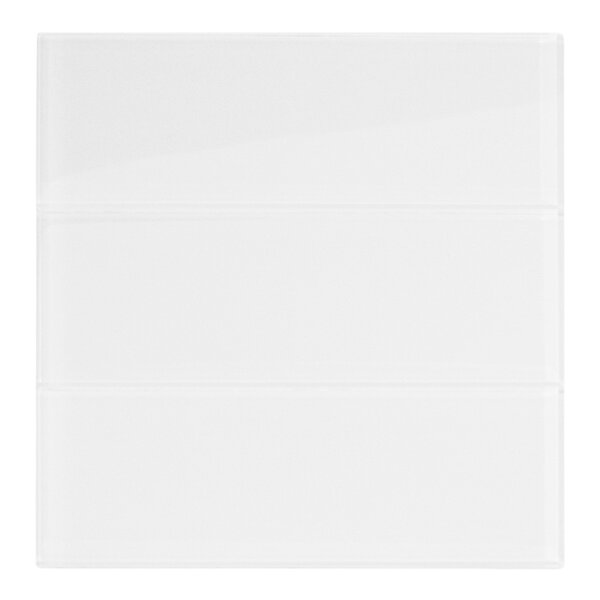 Oxygen 4 x 12 Glass Mosaic Tile in White by CNK Tile