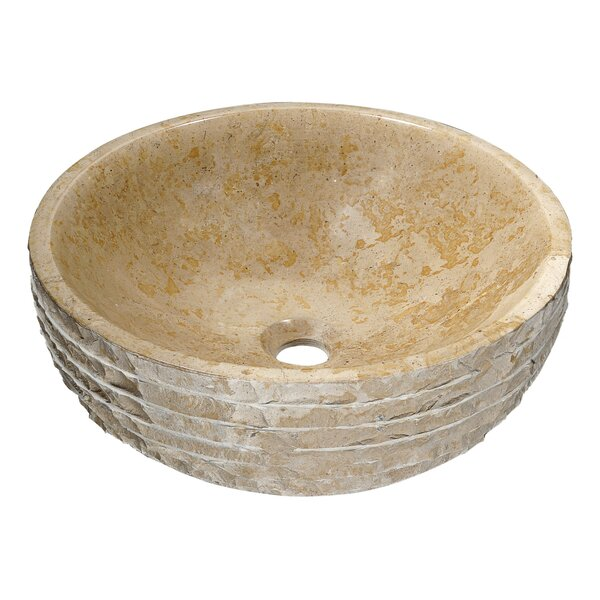 Desert Chalice Classic Cream Stone Circular Vessel Bathroom Sink
