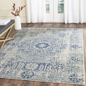 Huma Ivory/Blue Area Rug