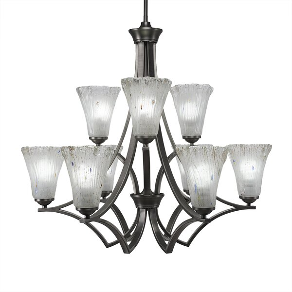 Couto 9 - Light Shaded Tiered Chandelier by Red Barrel Studio Red Barrel Studio