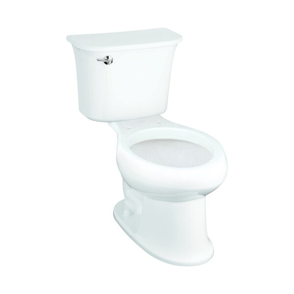 Stinson 1.28 GPF (Water Efficient) Elongated Two-Piece Toilet (Seat Not Included) by Sterling by Kohler