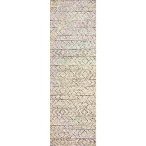 Between Hand-Woven Ivory Area Rug by Bungalow Rose