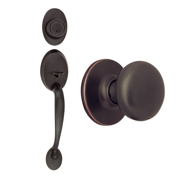 Coventry Single Cylinder Entrance Handleset by Design House