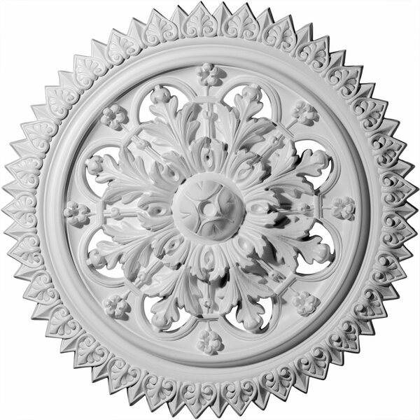 York 21 5/8H x 21 5/8W x 2 1/2D Ceiling Medallion by Ekena Millwork