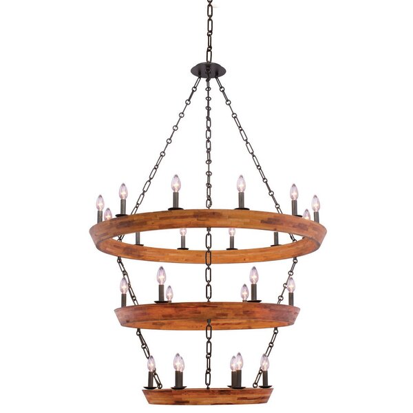 Griffing 24 - Light Candle Style Tiered Chandelier by Union Rustic Union Rustic