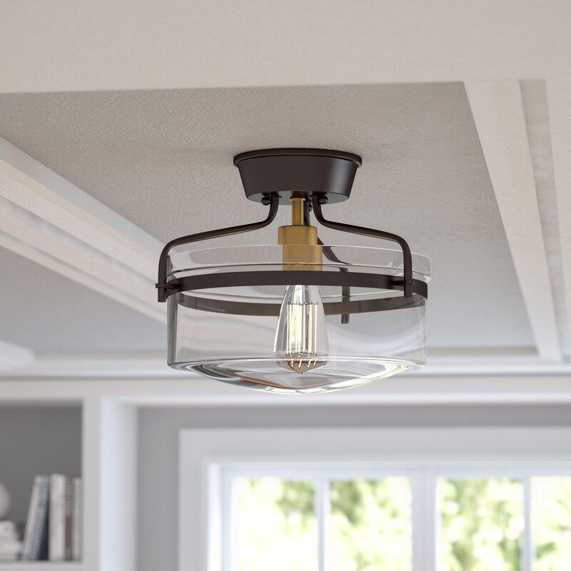 Willa Arlo Interiors Coolidge 2-Light Semi Flush Mount & Reviews ...