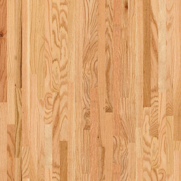 2-1/4 Solid Oak Hardwood Flooring in Semi Glossy Natural by Welles Hardwood