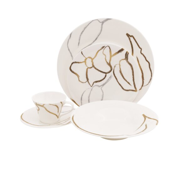 Artisan 5 Piece Bone China Place Setting, Service for 1 (Set of 4) by Shinepukur Ceramics USA, Inc.