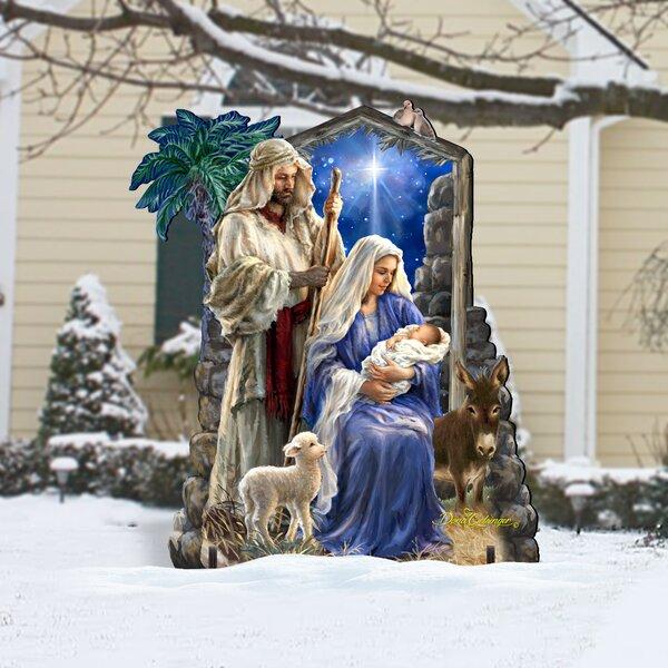 Holy Family Nativity Scene Hope Resin Craft Manger Scene Indoor Decoration Desktop Living Room Decor Christmas Nativity Set Nativity Set Holy Family Nativity Scene Figurine