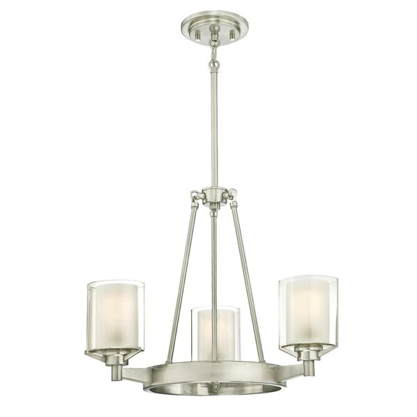 Johns 3 - Light Shaded Wagon Wheel Chandelier By Darby Home Co